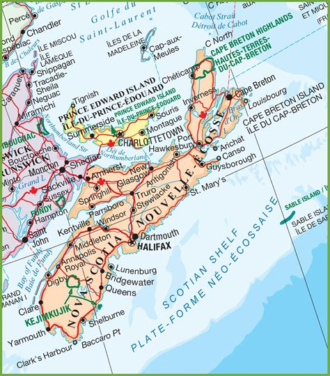 map of scotia scotia national parks map