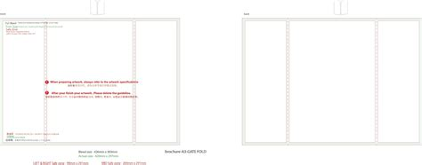 Template For Gatefold Card by Gate Fold Brochure Template Free D