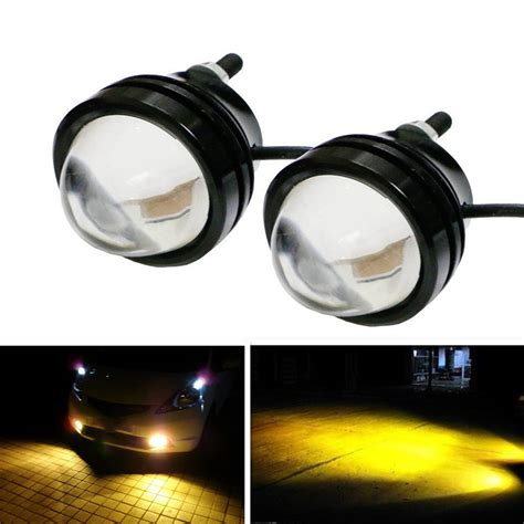 2x High Power Car Golden Eye Yellow 5w Led Projector Fog Led Projector Lights