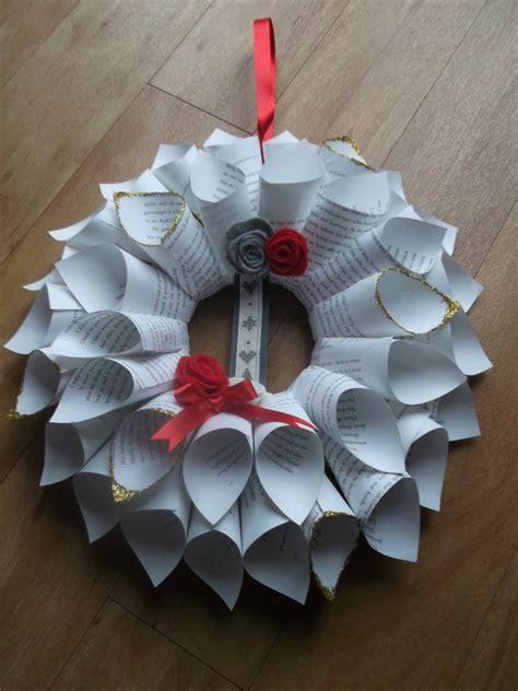 Weihnachtsdeko Papier Basteln by T 252 Rkranz Zu Weihnachten Basteln 30 Ideen Und Anleitungen