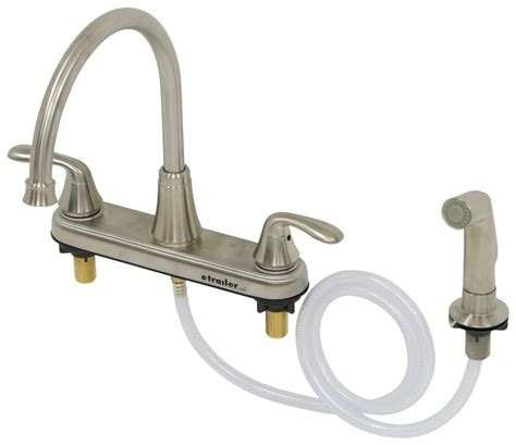 Pf Kitchen Faucet Phoenix Faucets 8 Quot Dual Handle Rv Kitchen Faucet With Side