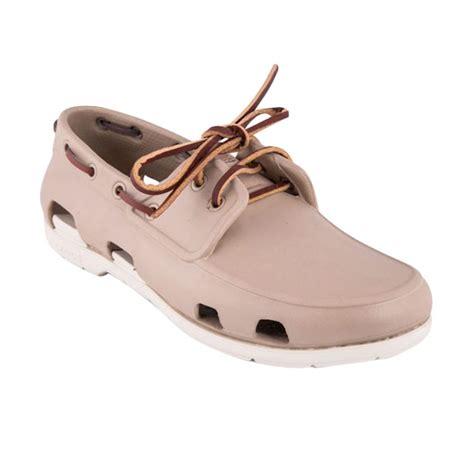 Sepatu Crocs Pria Original jual crocs mens line boat tumbleweed stucco sepatu pria harga kualitas terjamin