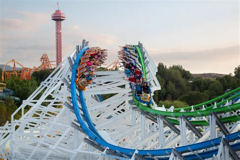 six flags magic mountain best amusement parks in america for roller coaster and