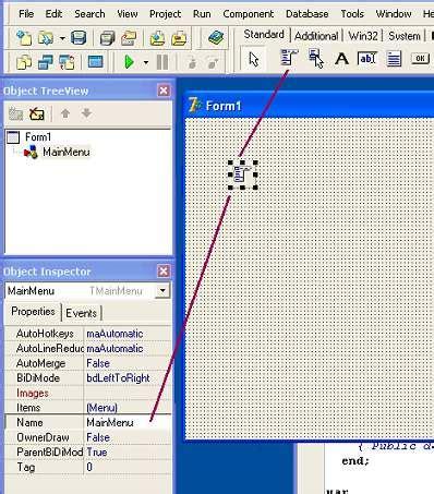 delphi menubar tutorial basic delphi page 03