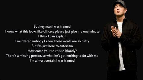 eminem framed lyrics eminem framed lyrics youtube