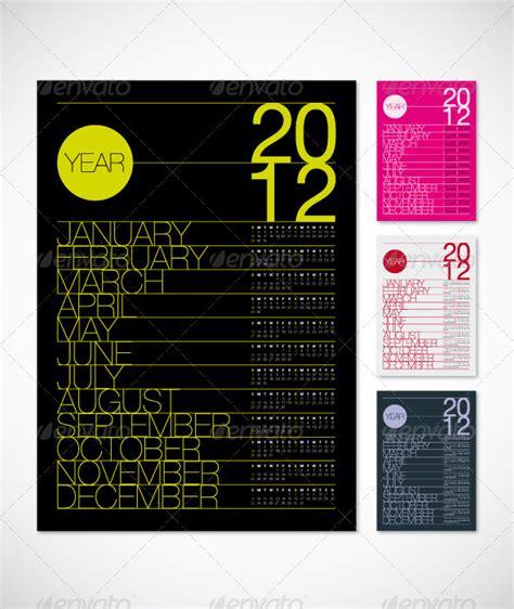 calendar poster template 2012 calendar poster a3 graphicriver