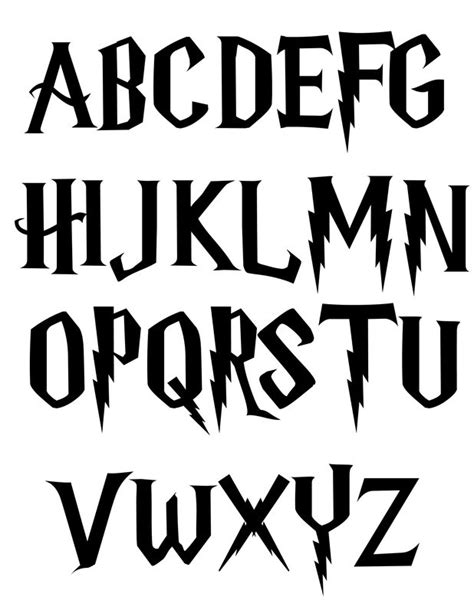 harry potter fonts 14 harry potter alphabet font images harry potter fonts