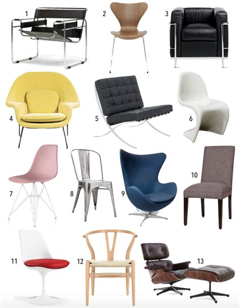 iconic chairs of 20th century design quiz famous 20th century chairs thestylesafari