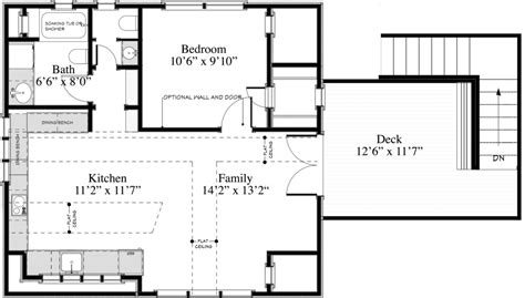 cottage style house plan 1 beds 1 00 baths 600 sq ft