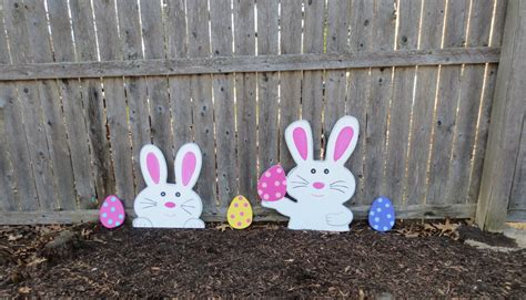 easter bunny outdoor yard decoration set by