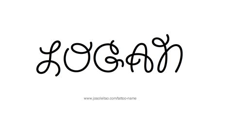 logan tattoo logan name designs