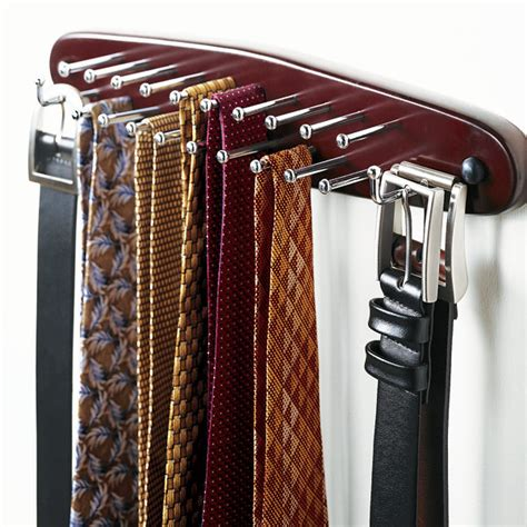 California Closet Tie Rack by Walnut Tie Belt Rack The Container Store