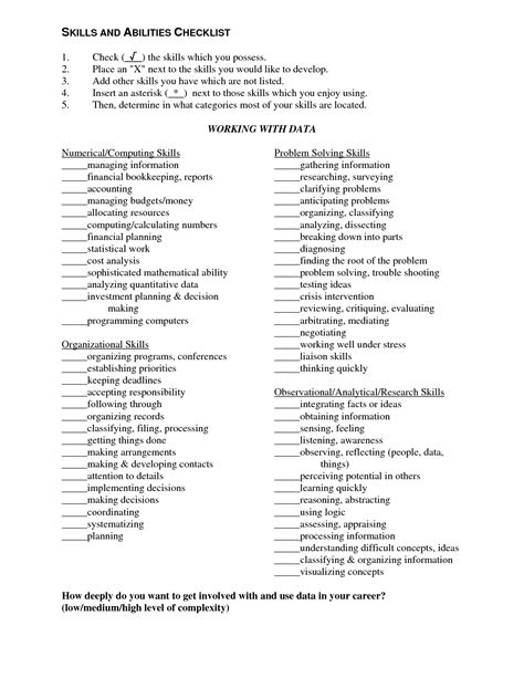 best photos of skills and ability list knowledge skills and abilities list skills and