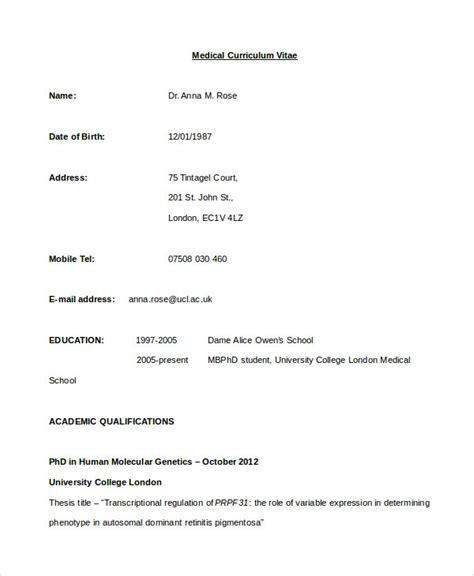 Curriculum Vitae Sample Format Download by Cv Template 20 Free Word Pdf Documents Download Free