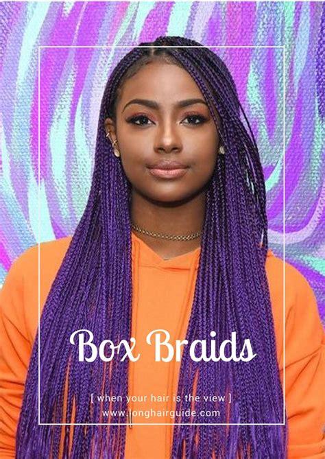 colorful box braids best 25 purple box braids ideas on purple