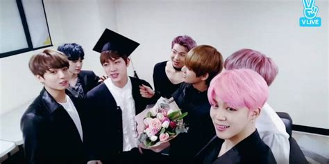 bts university bts hold a graduation ceremony for jin allkpop com