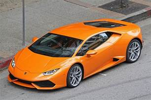 Lamborghini Orange Spyshots Orange Lamborghini Huracan Racing In The