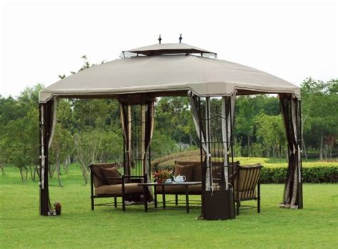 Big Lots Patio Gazebos L Gz120pst Big Lots 10 X 12 Bay Window Gazebo 2009 Replacement Canopy Best Patio Furniture