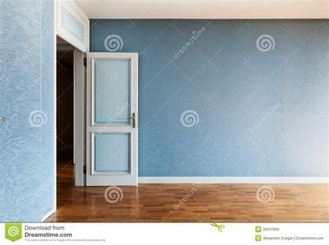 Wohnung Leer by Blauer Raum Lizenzfreies Stockbild Bild 30237956