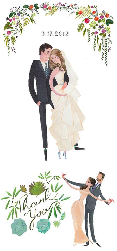 wedding gift drawing custom wedding stationery polka dot