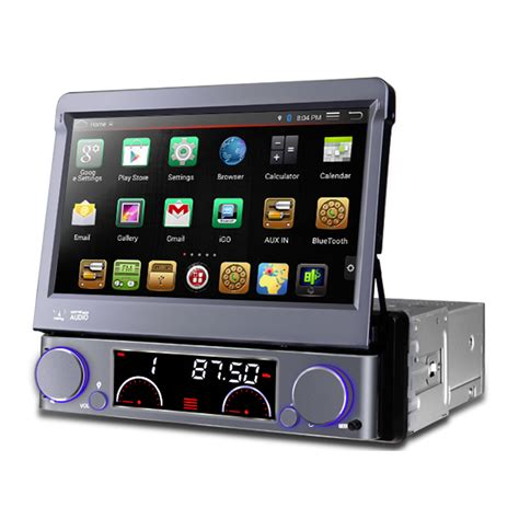 android stereo 7 quot flip out hd android navigation bluetooth car stereo with radio dvd usb sd