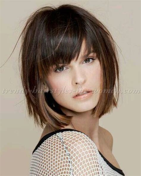Bob Hairstyles With Bangs by Layered Bob With Wispy Bangs Hairstyle 2013