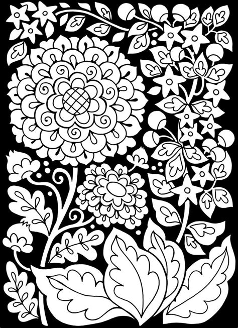 print   coloring page coloring adult flowers