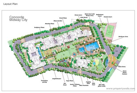 layout plan concorde midway city hosur road bangalore apartment flat project propertywala