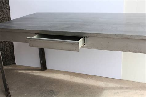 stylish antique industrial metal desk at 1stdibs stylish antique industrial metal desk at 1stdibs