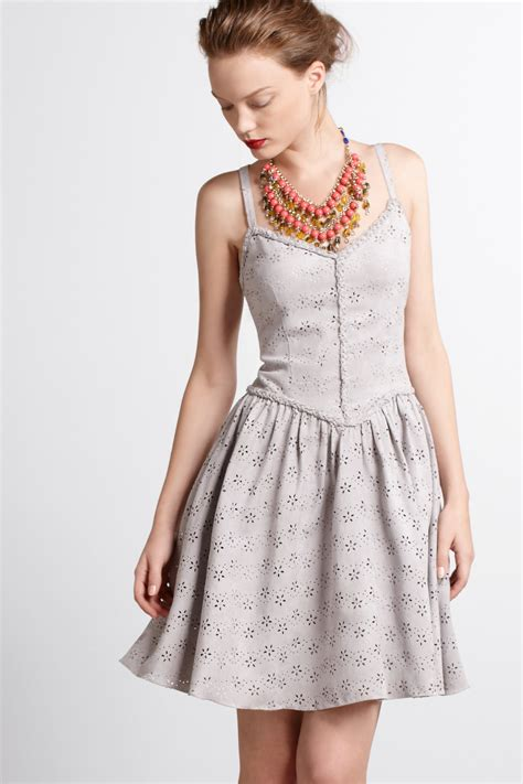 dress anthropologie anthropologie dress in gray lyst