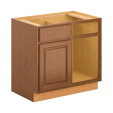 unfinished blind base cabinet hton bay 30x34 5x24 in base cabinet in cognac