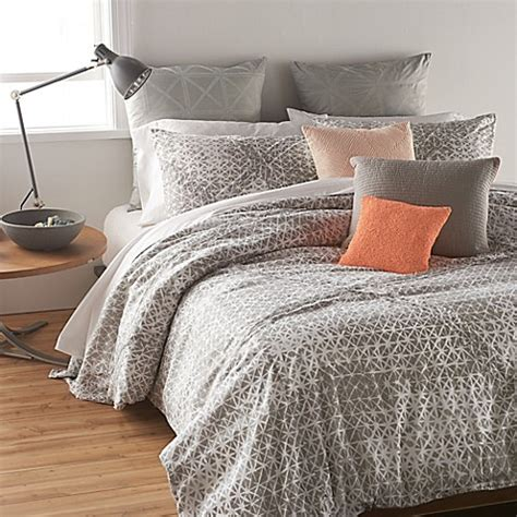 dkny bedding dkny gridlock comforter set in grey bedbathandbeyond com