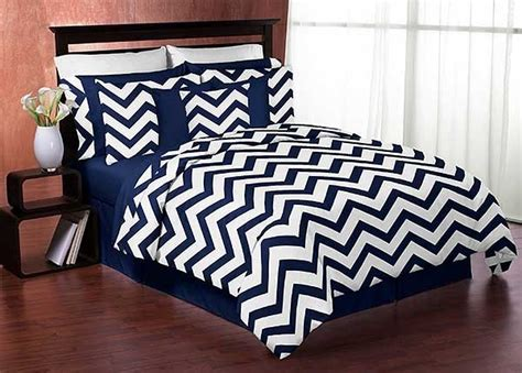 chevron print bedding navy white chevron print comforter set twin size