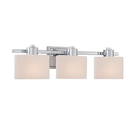 bathroom vanity lights chrome shop allen roth 3 light grayson polished chrome bathroom