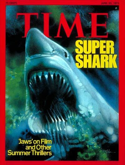 Kaos Keren Jaws 1975 Shark Classic jaws at 40 read what time thought of the in 1975 time