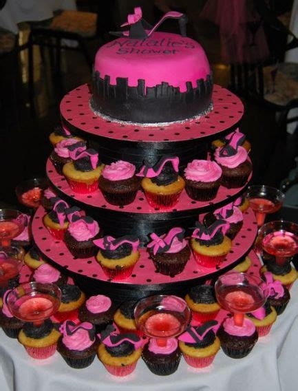 chagne and cupcakes bridal shower theme and the city theme bridal shower cake and cupcakes jpg 1 comment