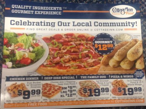 cottage inn pizza coupon codes cottage inn pizza pizza roseville mi reviews