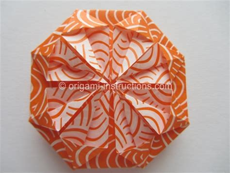 Origami Chrysanthemum - origami kusudama chrysanthemum flower folding