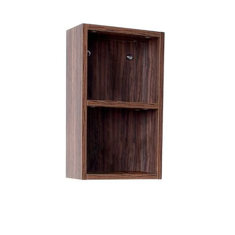 fresca walnut bathroom linen side cabinet w 2 open