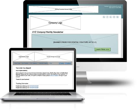 Email Template Wireframe Design Services Ui Wireframes Email Graphic Template