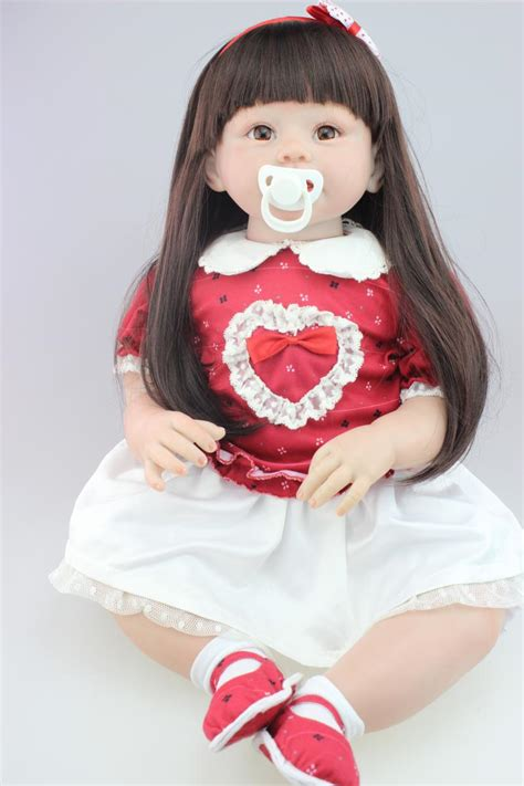 Big Doll 28 quot 70cm doll toys silicone reborn toddlers bonecas hair fashion dress baby toys