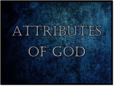 Of God attributes of god the church at meadowlake