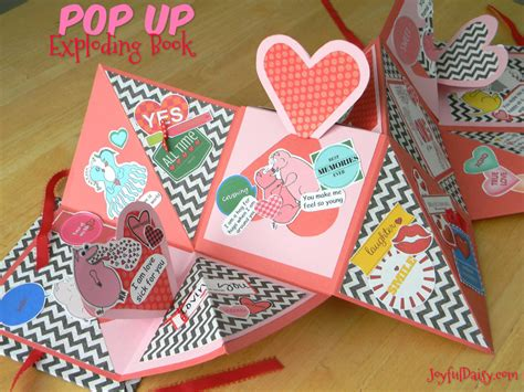 How To Make Pop Up Paper - how to make an exploding book with pop ups joyful
