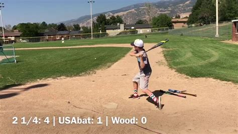 backyard home run derby game youth 2 1 4 vs usabat vs wood home run derby youtube