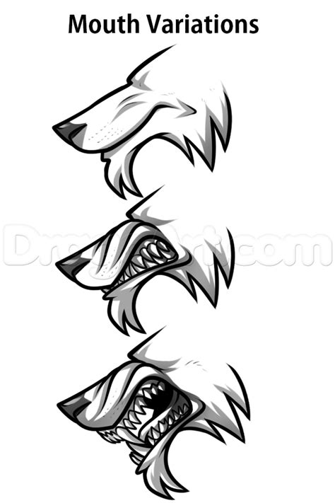 werewolf drawing tutorial werewolf profile drawing lesson step by step werewolves