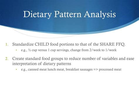 eye pattern analysis ppt ppt ffqs and dietary pattern analysis powerpoint