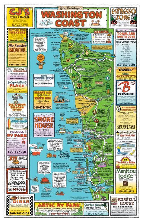 washington coast map maps usa