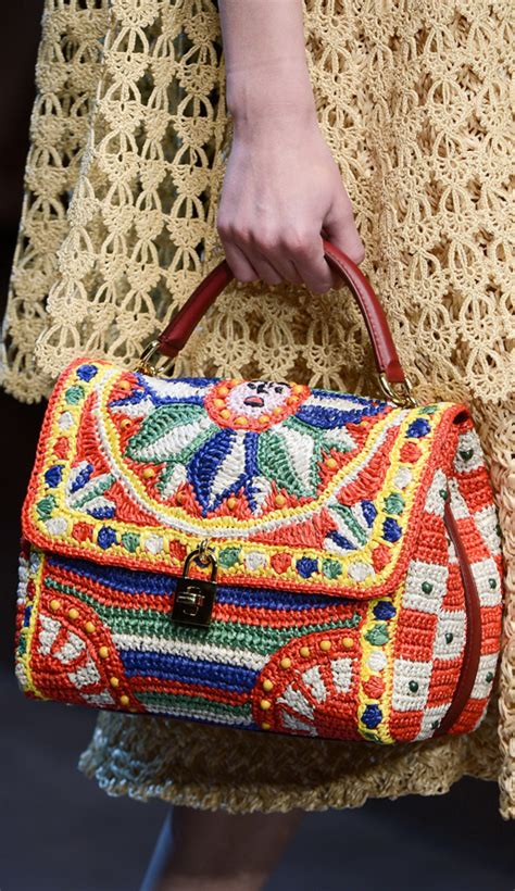 Dg Dolce And Gabbana Flash Collection Knit And Leather Shopper by Crochet Inspired Fashion In 2013 Chanel D G