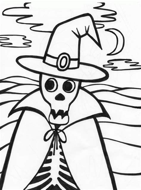 Halloween Coloring Pages Halloween Skeleton Coloring Skeleton Color Page