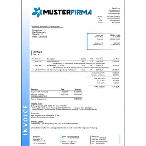Vorlage Rechnung Charge Jtl Wawi Druckvorlagen Set Englisch Design 02 Wawi Dl 70 50